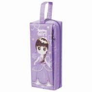 Пенал-косметичка Юнландия с ручкой, 2 отделения, полиэстер, Девочка, фиолетовый, 20х5х9 см, 228986