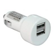 Зарядное устройство Автомобильное DEFENDER UCA-15, 2 порта USB, выходной ток 2A/1А, белое, блистер, 83562