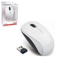 Мышь беспроводная Genius NX-7000, USB, 3 кнопки + 1 колесо-кнопка, оптическая, белая, 31030109108