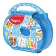Набор для творчества MAPED ColorPeps Jumbo, 10 фломастеров, 12 утолщенных восковых мелков, раскраска, пластиковый пенал, 897416