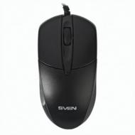 Мышь проводная Sven RX-112, USB + PS/2, 2 кнопки + 1 колесо-кнопка, оптическая, чёрная, SV-03200112UPSB