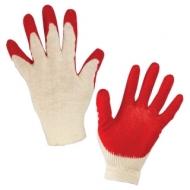 Перчатки хлопчатобумажные Комплект 5 пар, 13 класс, 36-38 100 текс, одинарный латексный облив, Лайма Люкс, 600802