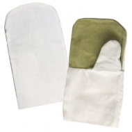 Рукавицы хлопчатобумажные, плотность 460 г/м2, брезентовый наладонник, Комплект 5 пар