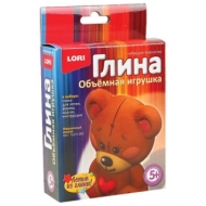 Набор для изготовления игрушки из глины Игрушечный мишка, глина, формы, краски, LORI, Пз/Гл-002