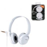Наушники SONY MDR-ZX110, проводные, 1,2 м, стерео, полноразмерные с оголовьем, белые, MDRZX110W.AE