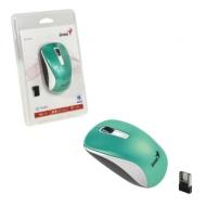 Мышь беспроводная Genius NX-7010, 2 кнопки + 1 колесо-кнопка, оптическая, бирюзовая, 31030114109