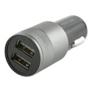 Зарядное устройство Автомобильное Red line C20, кабель Type-C 1 м, 2 порта USB, выходной ток 2,1 А, черное, УТ000012247