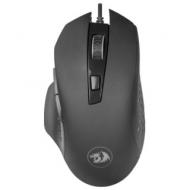 Мышь проводная игровая Redragon Gainer, USB, 5 кнопок + 1 колесо-кнопка, оптическая, черная, 75170