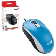 Мышь проводная Genius DX-110, USB, 2 кнопки + 1 колесо-кнопка, оптическая, голубая, 31010116103