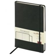 Бизнес-Блокнот А5, 100 л., твердая обложка, под кожу Velvet, на резинке, Bruno Visconti, Черный, 3-525/02