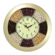 Часы настенные Troyka 11171141, круг, Часы-специи, золотая рамка, 29х29х3,5 см