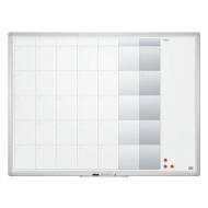 Доска-планинг на месяц магнитно-маркерная 90x120 см, алюминиевая рамка, OFFICE, 2х3, TP007