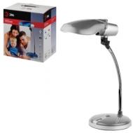 Светильник настольный ЭРА NE-301, на подставке, для люминесцентной или светодиодной лампы, серебро, E27, NE-301-E27-S