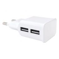 Зарядное устройство сетевое (220 В) Red line NT-2A, кабель microUSB 1 м, 2 порта USB, выходной ток 2,1 А, белое, УТ000012256