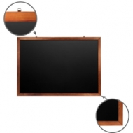 Доска для мела магнитная (100х150 см) Brauberg, Черная, деревянная окрашенная рамка, 236895