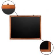 Доска для мела магнитная (60х90 см) Brauberg, черная, деревянная окрашенная рамка, 236891