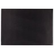 Коврик-подкладка настольный для письма (650х450 мм), с прозрачным карманом, черный, Brauberg, 236775