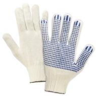 Перчатки хлопчатобумажные, Комплект 5 пар, 13 класс, 36-38 г, 66 текс, ПВХ-точка, Лайма Профи, белые, 605348