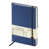 Бизнес-Блокнот А5, 100 л., твердая обложка, под кожу Velvet, на резинке, Bruno Visconti, Темно-синий, 3-525/01