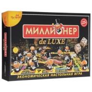 Игра настольная Миллионер de LUXE, игровое поле, карточки, банкноты, жетоны, ORIGAMI, 01828