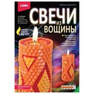 Набор для изготовления свечей из вощины Яркий орнамент, восковые пластины, фитиль, стек, LORI, Вн-003