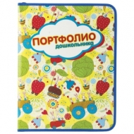 Папка-портфолио дошкольника Пчелка, 8 вкладышей, на молнии, универсальная, ламинированный картон, с рисунком, ПТШ-1-3
