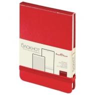Бизнес-Блокнот А6, 100 л., твердая обложка, балакрон, открытие вверх, Bruno Visconti, Красный, 3-104/04