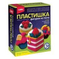 Набор для изготовления фигур из теста Пластишка Вкусные пирожные, тесто для лепки, формы, LORI, Тдл-026