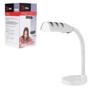 Светильник настольный ЭРА NE-302, на подставке, для люминесцентной или светодиодной лампы, белый, E27, NE-302-E27-W