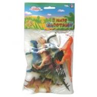 Набор фигурок В мире животных, Динозавры, 6 шт., 10 см, 1TOY, Т50484