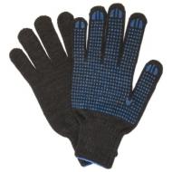 Перчатки хлопчатобумажные, Комплект 5 пар, 10 класс, 50-52 г, 133 текс, ПВХ-точка, Лайма Люкс 2, черные, 604470