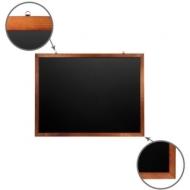 Доска для мела магнитная (90х120 см) Brauberg, Черная, деревянная окрашенная рамка, 236893