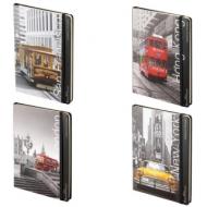 """Бизнес-Блокнот А5 """"Города"""", 100 л., твердая обложка картонная, на резинке, карман, BV, 3-477/02"""