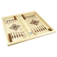 Игра настольная Нарды, деревянные фишки, деревянная доска 40х40, 10 КОРОЛЕВСТВО, 2842