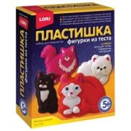 Набор для изготовления фигур из теста Пластишка Милые кошки, тесто для лепки, формы, LORI, Тдл-023