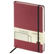 Бизнес-Блокнот А5, 100 л., твердая обложка, под кожу Velvet, на резинке, Bruno Visconti, Бордовый, 3-525/05