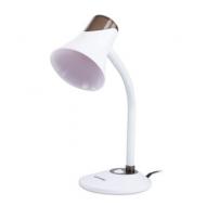 Светильник настольный Sonnen OU-607, на подставке, цоколь Е27, белый/коричневый, 236680