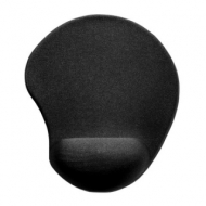 Коврик для мыши Sven GL009BK, полиуретан + лайкра, 260х225х5 мм, черный, SV-009854