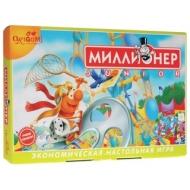 Игра настольная Миллионер Junior, игровое поле, карточки, банкноты, жетоны, ORIGAMI, 00110