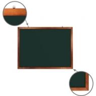 Доска для мела магнитная (90х120 см)Brauberg, Зеленая, деревянная окрашенная рамка, 236892