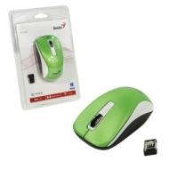 Мышь беспроводная Genius NX-7010, 2 кнопки + 1 колесо-кнопка, оптическая, зеленая, 31030114108