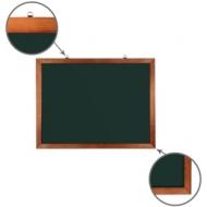 Доска для мела магнитная (60х90 см) Brauberg, Зеленая, деревянная окрашенная рамка, 236890