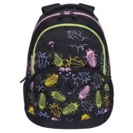 Рюкзак Grizzly универсальный, для девушек, Жуки, 31х42х23 см, RD-951-2/1