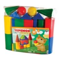 Конструктор пластиковый Теремок, 27 элементов, в ПВХ сумке, цветной, Десятое королевство, 01597