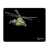 Коврик для мыши Gembird MP-GAME9 Вертолет, ткань+вспененная резина, 250x200x3 мм, черный