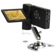 Микроскоп цифровой Levenhuk DTX 500 Mobi, 20-500 кратный, 3 ЖК-монитор, камера 5 Мп, microSD, портативный, 61023