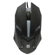 Мышь проводная Defender CYBER MB-560L, USB, 2 кнопки + 1 колесо-кнопка, оптическая, черная, 52560