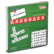 Игра настольная Словодел мини, 18*18 см, магнитная, 10 КОРОЛЕВСТВО, 2733
