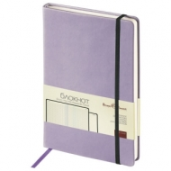 Бизнес-Блокнот А5, 100 л., твердая обложка, под кожу Velvet, на резинке, Bruno Visconti, Сиреневый, 3-525/10