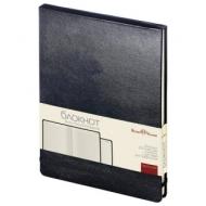 Бизнес-Блокнот А5, 100 л., твердая обложка, балакрон, открытие вверх, Bruno Visconti, Черный, 3-103/02